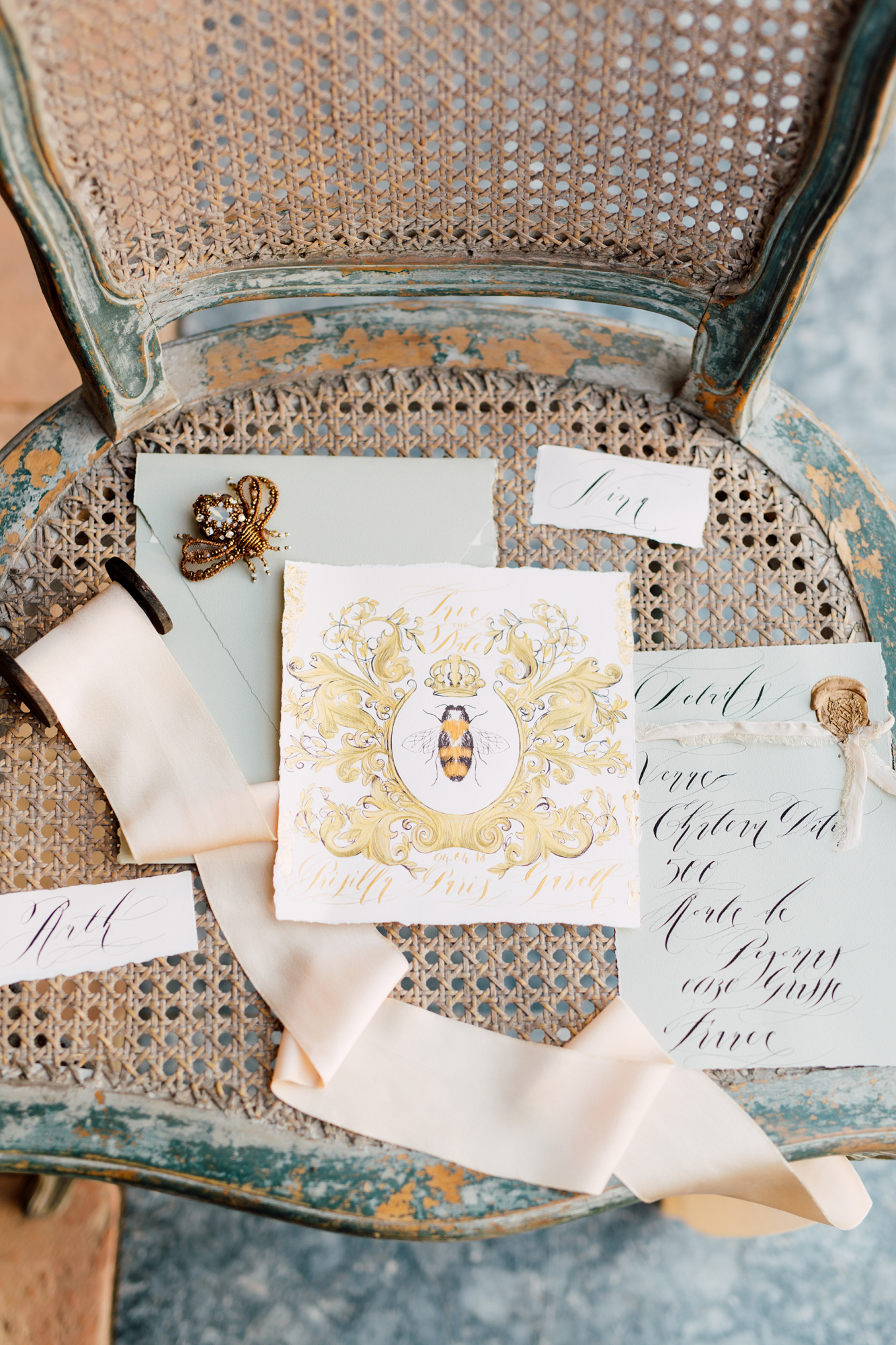 ornate wedding stationery