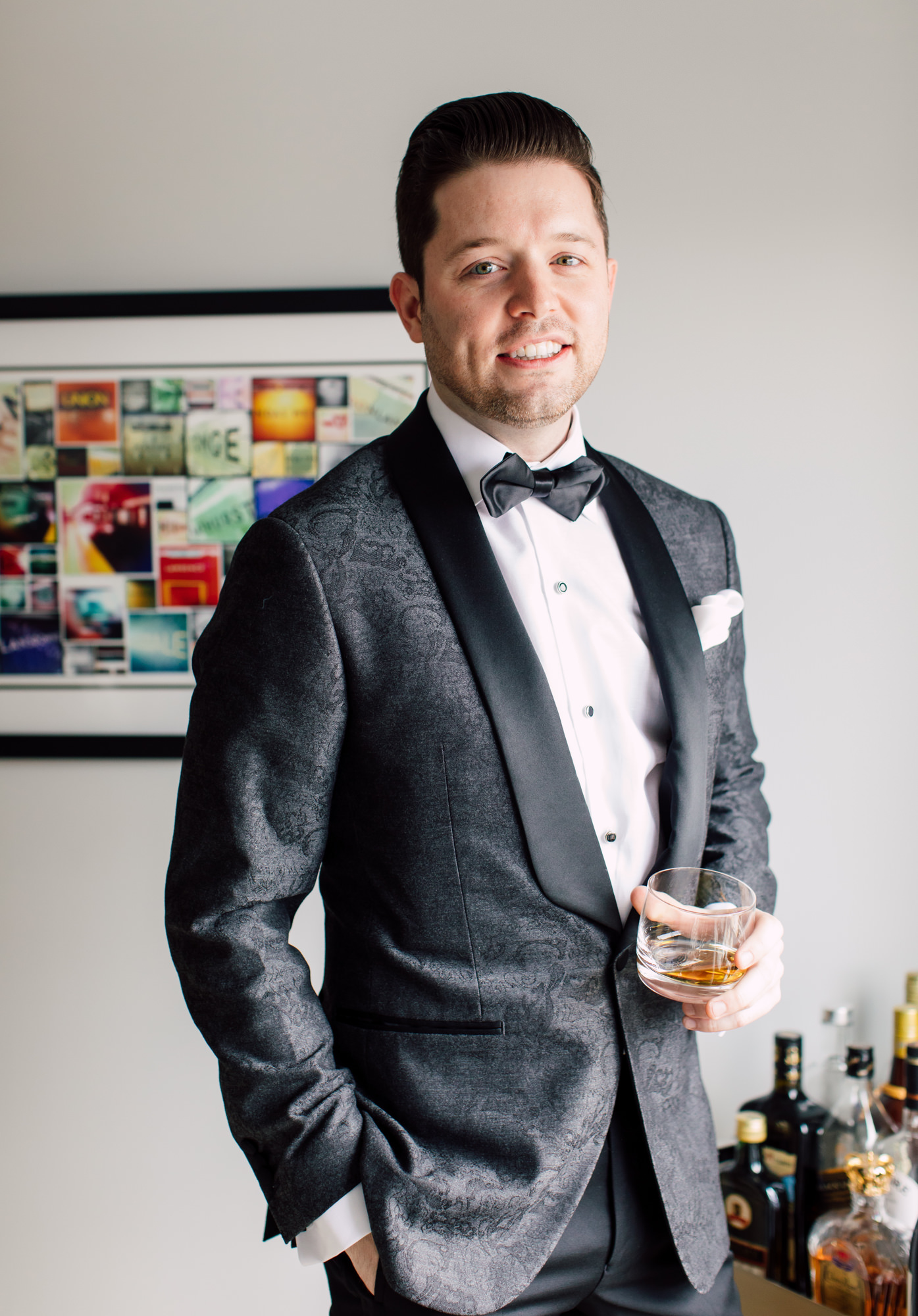 groom whiskey wedding