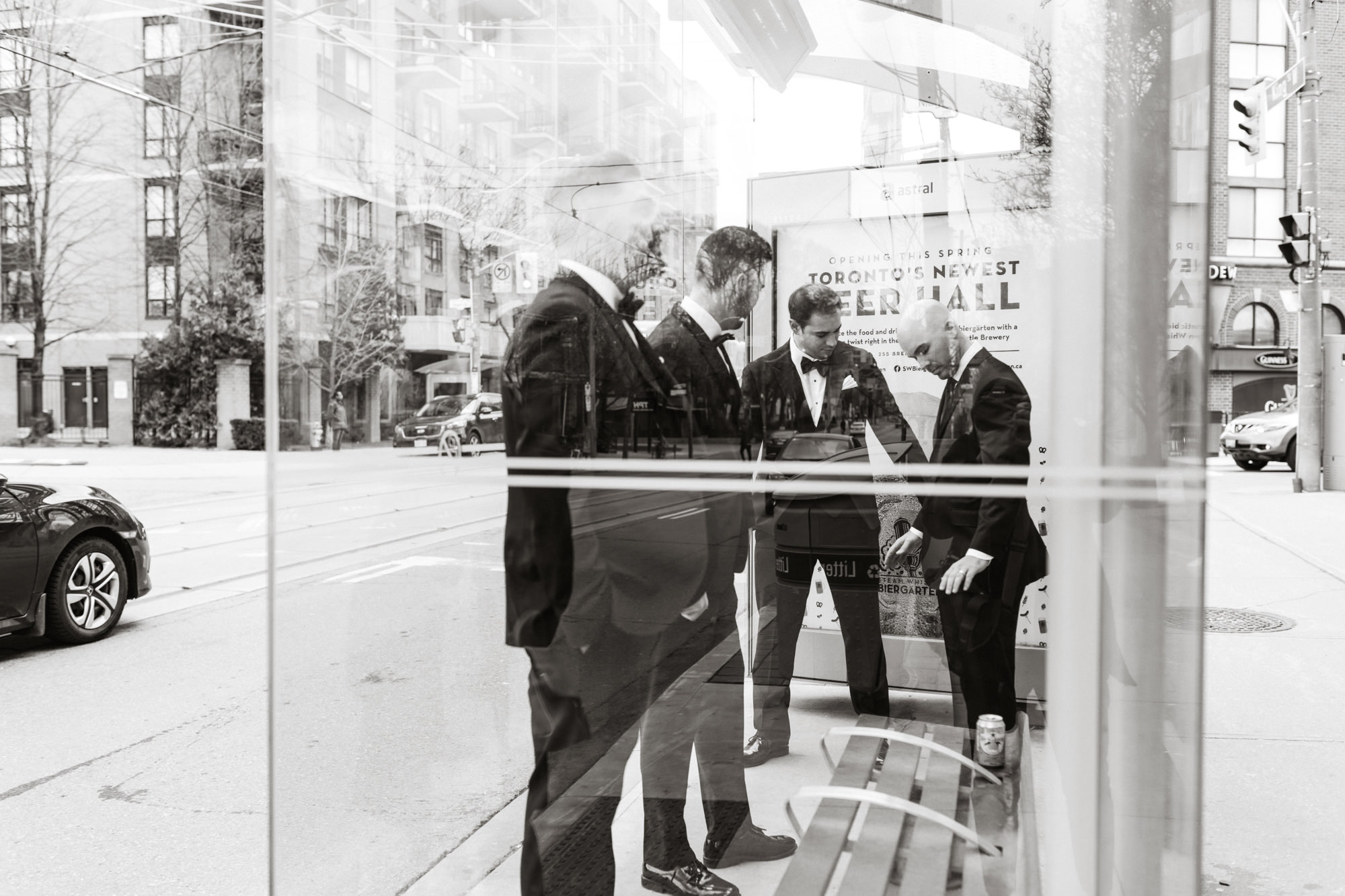 groomsmen streetcar stop