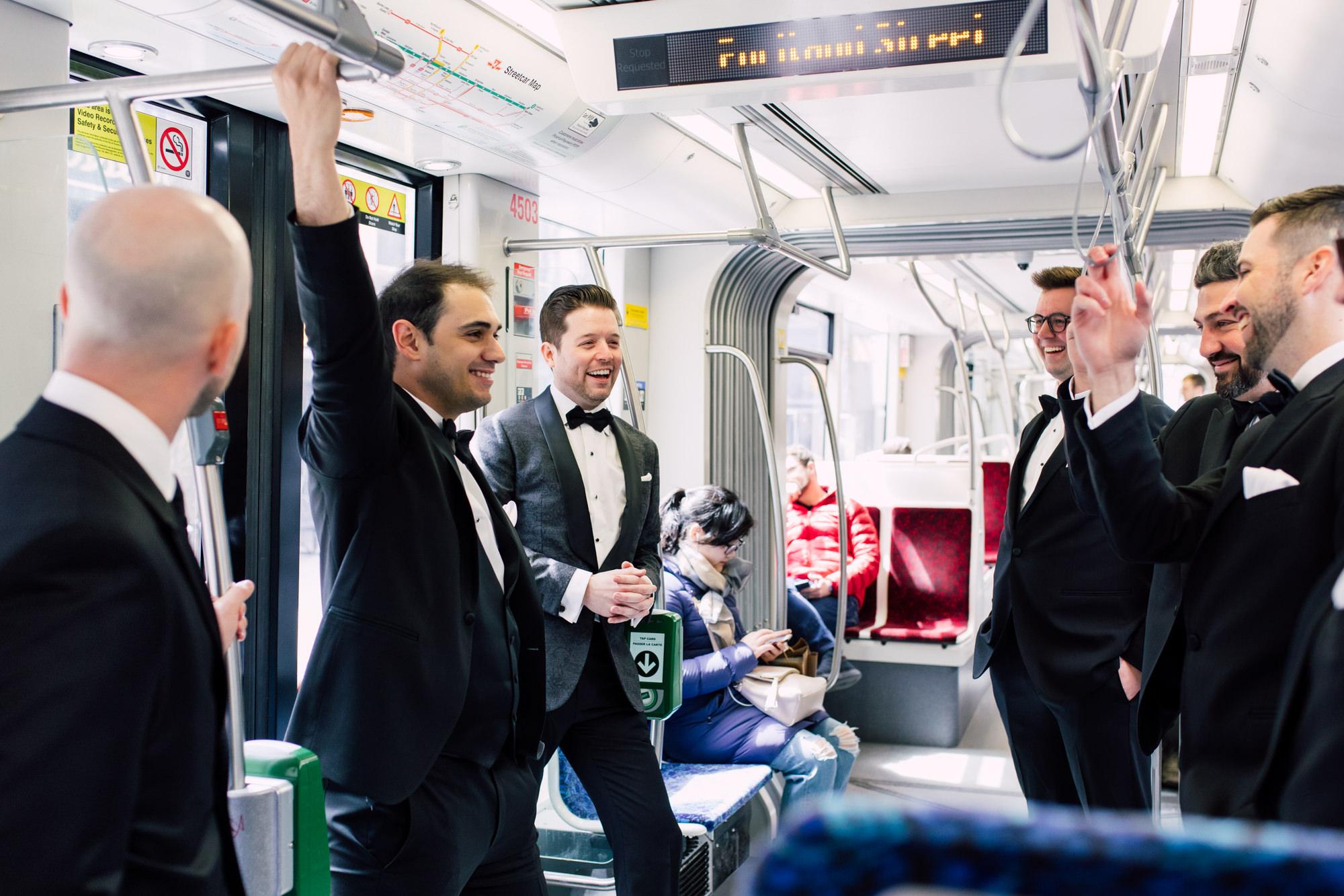 groomsmen ttc streetcar