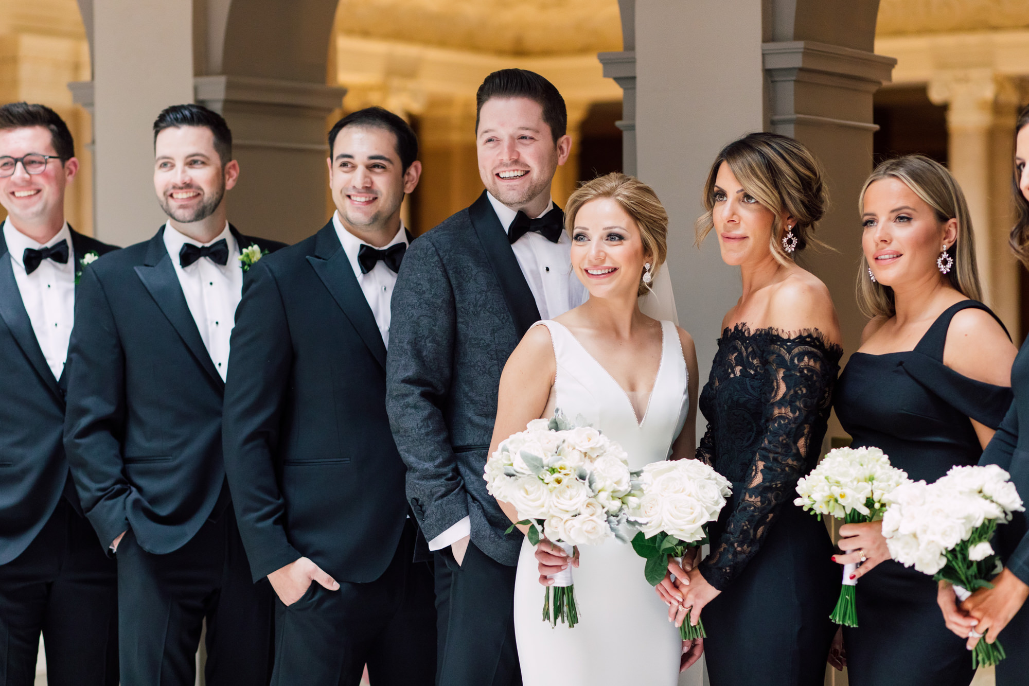 bridal party tuxedo black