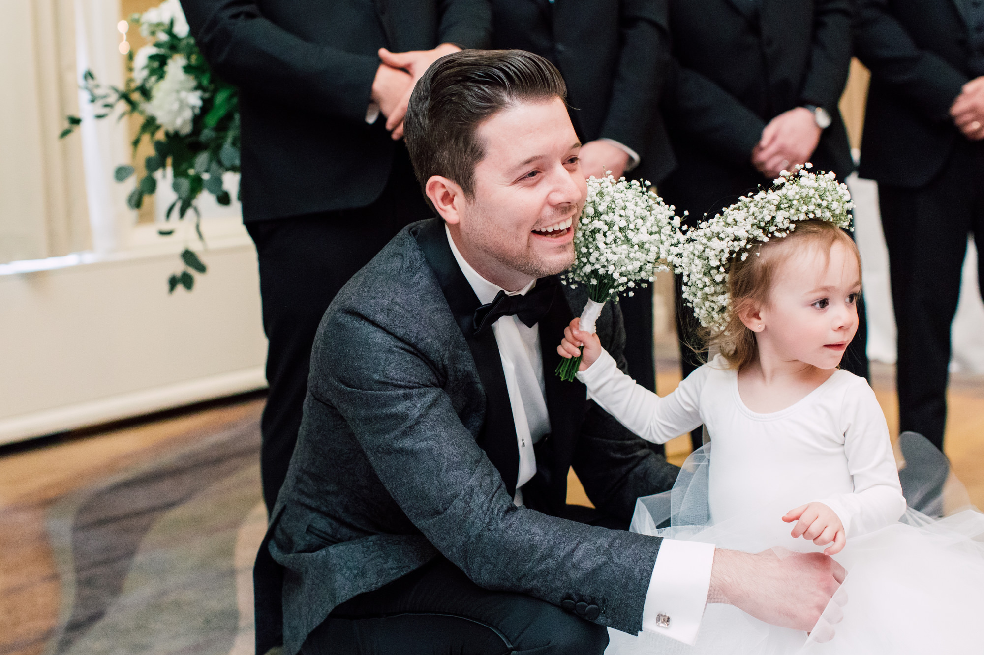 cute groom flower girl