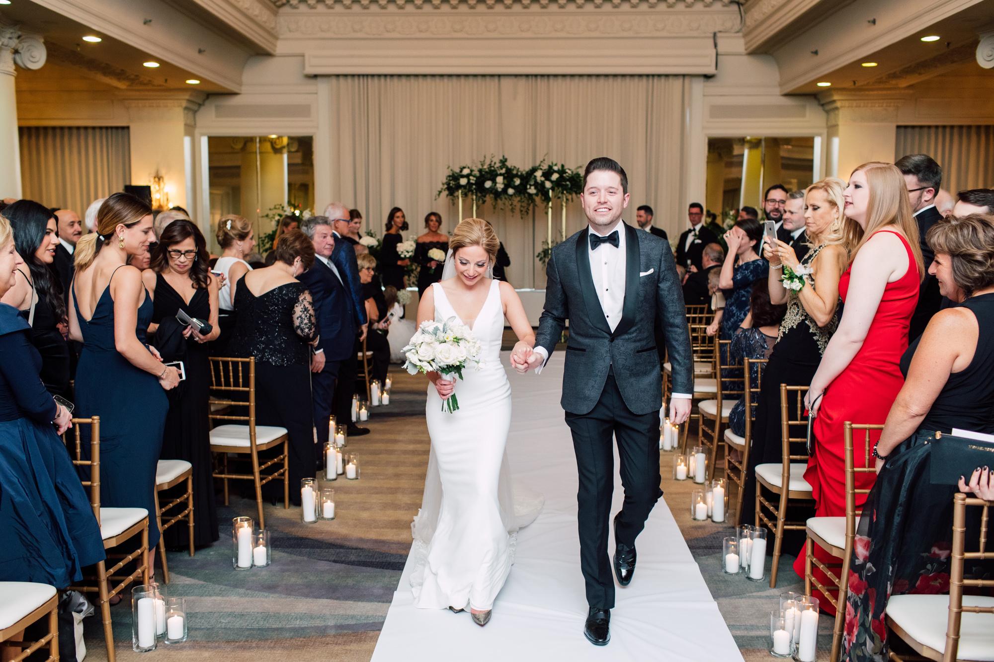 elegant newlyweds