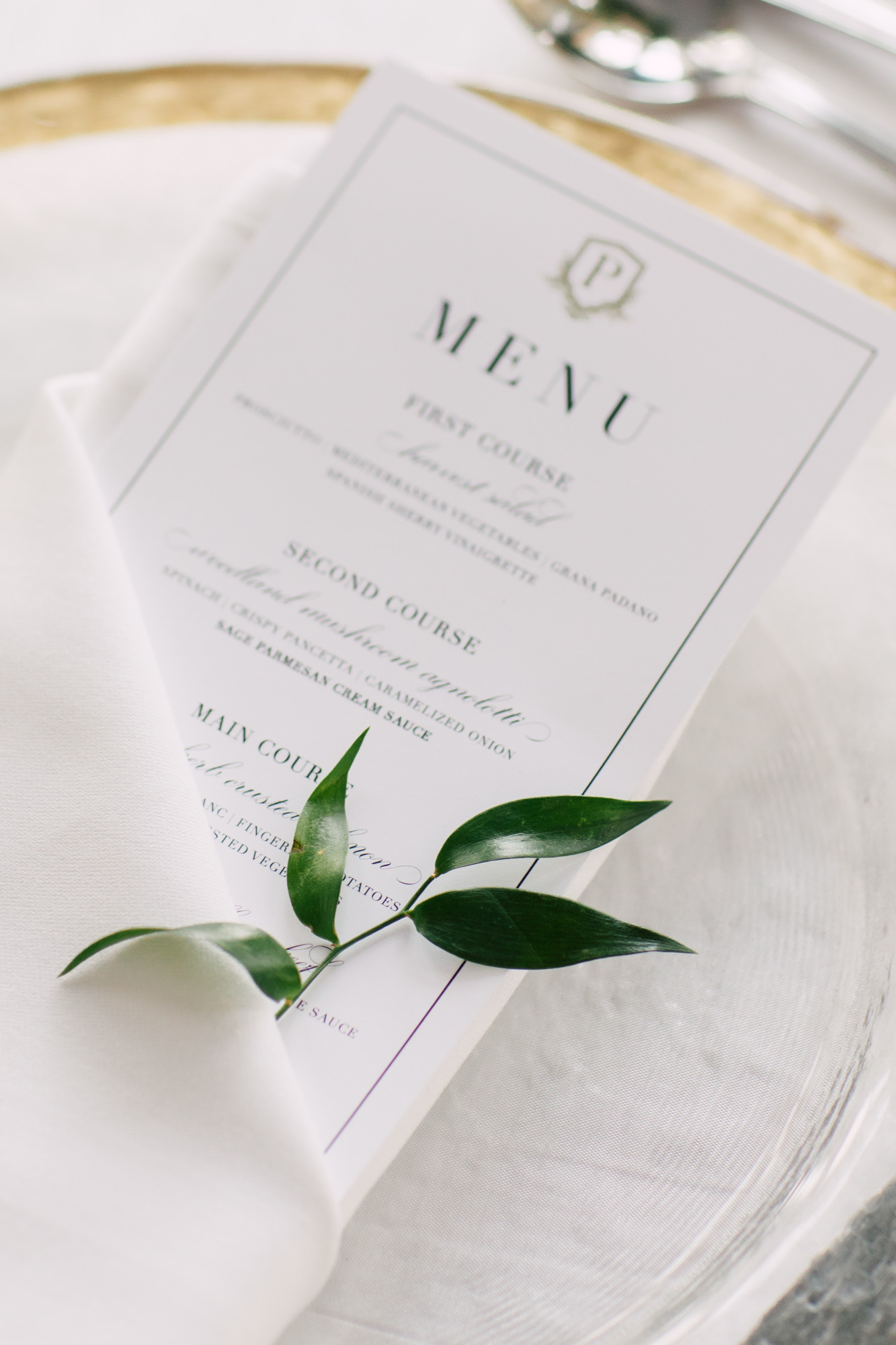 invitations by design menu