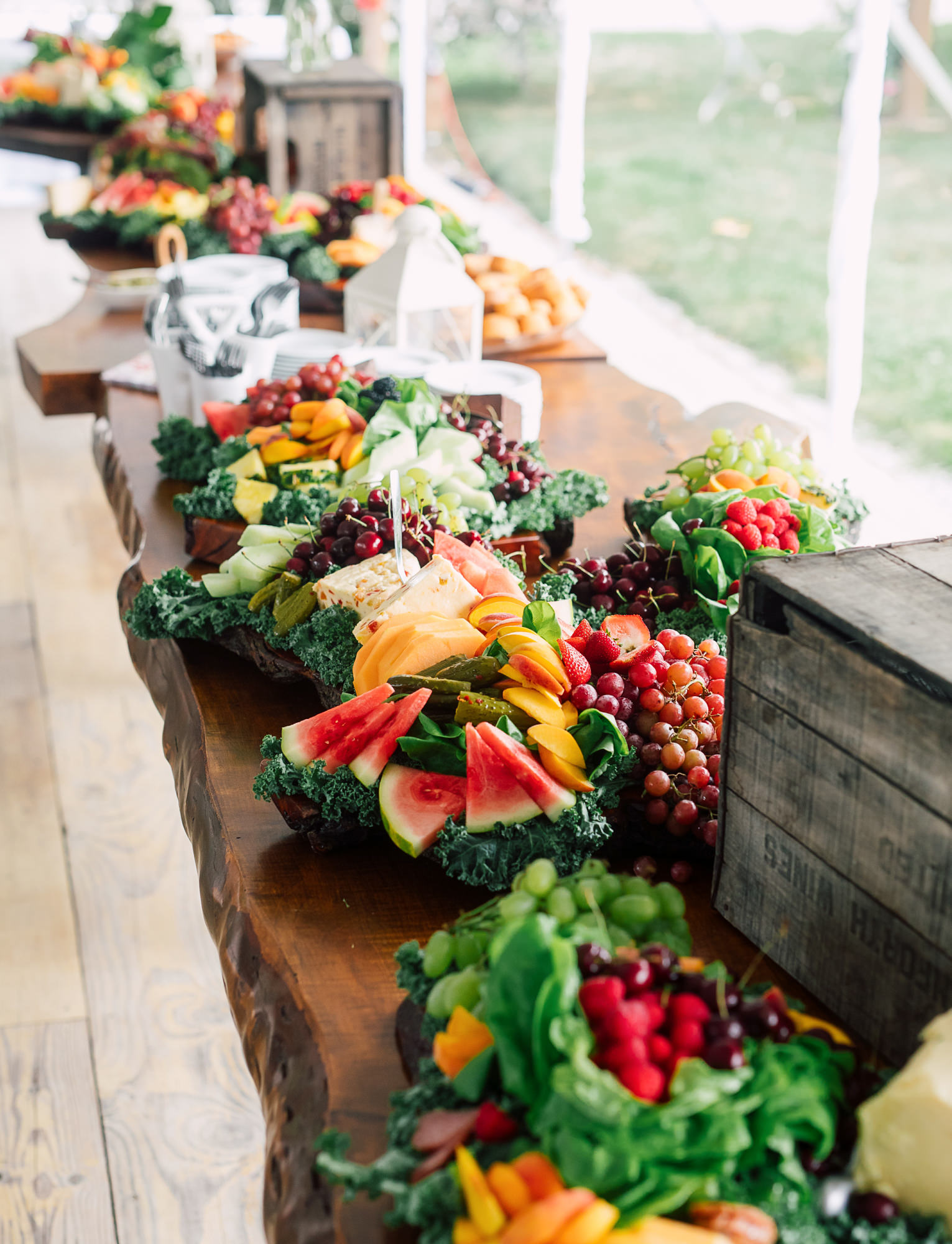 wedding fruit vegetable platter