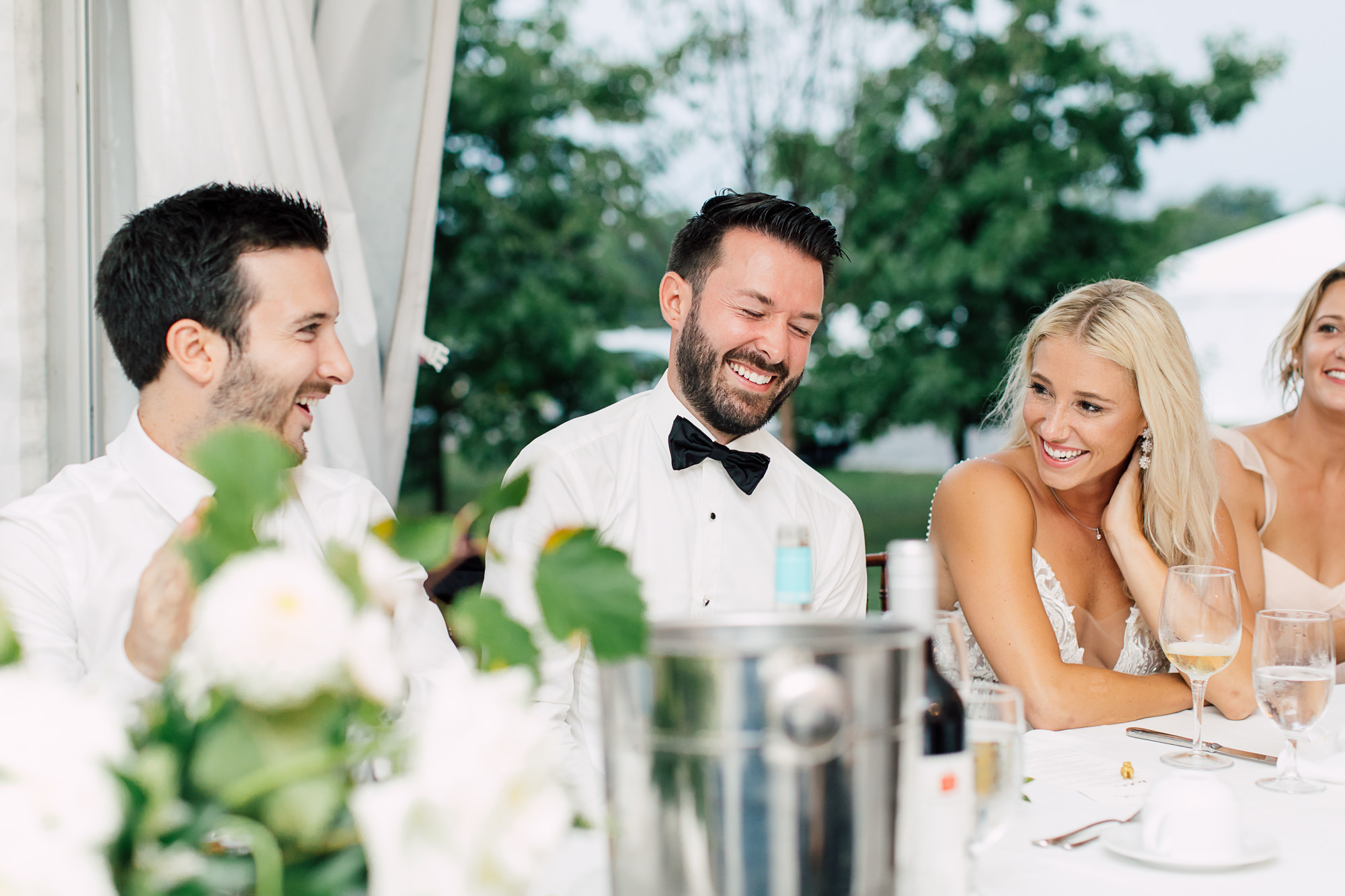 laughing groom speech