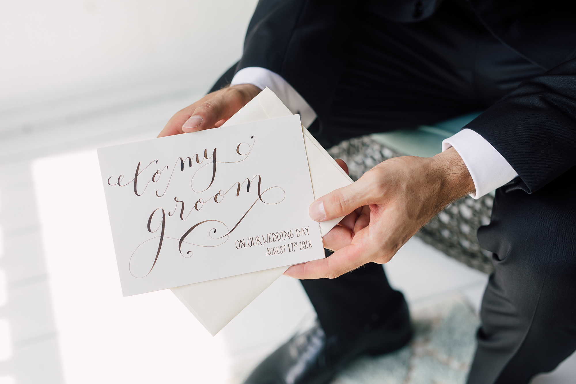 groom wedding card