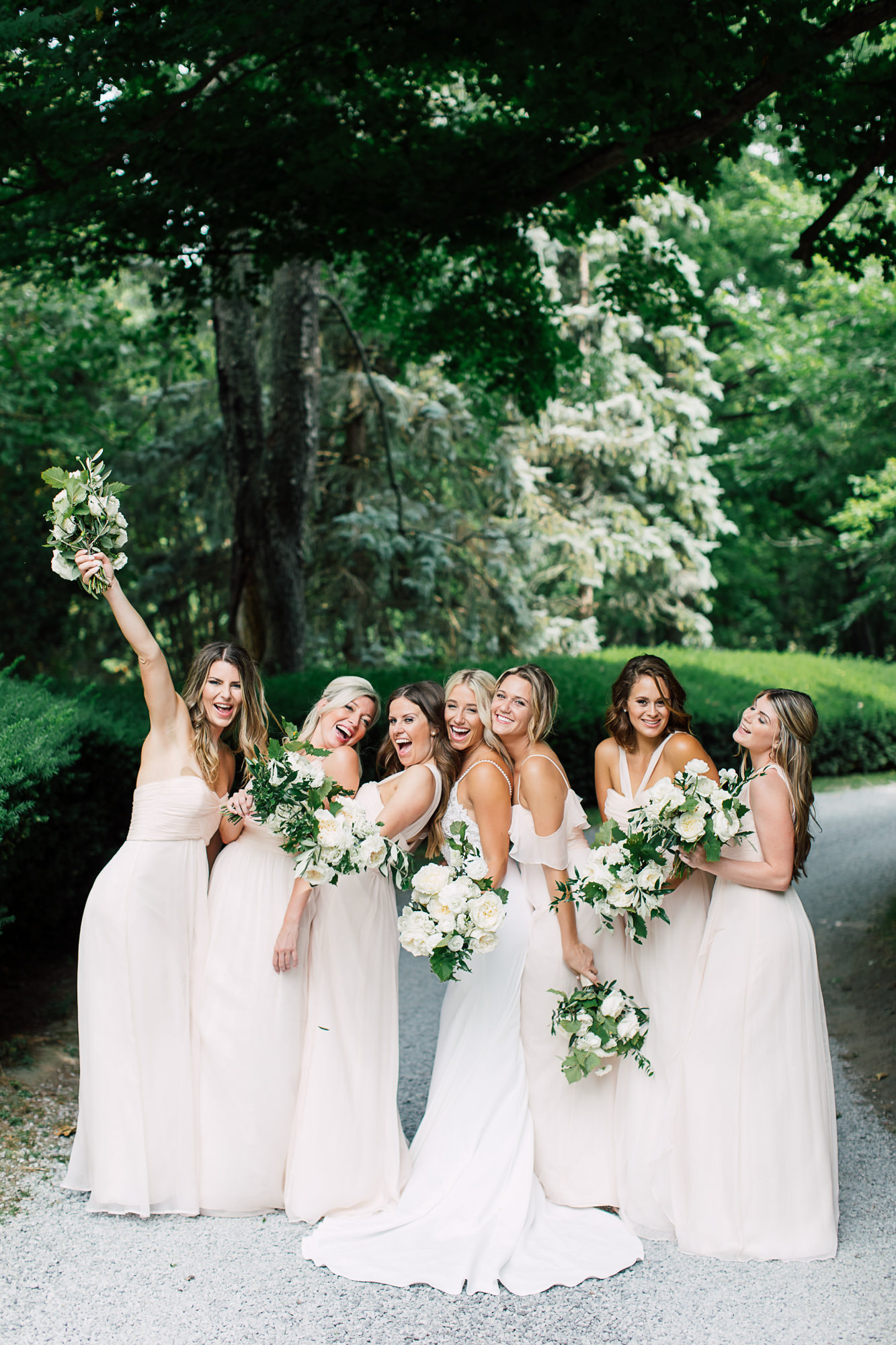 candid bridesmaids