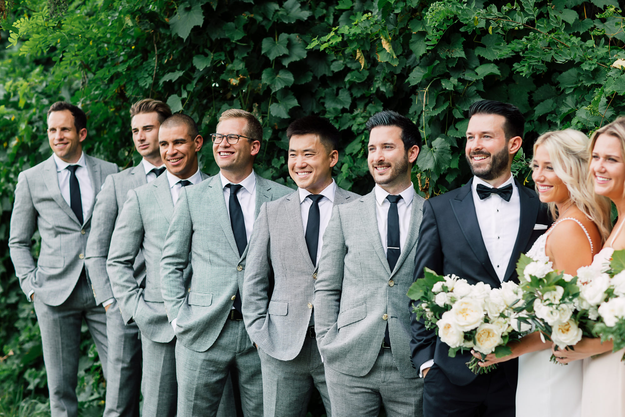 candid groomsmen