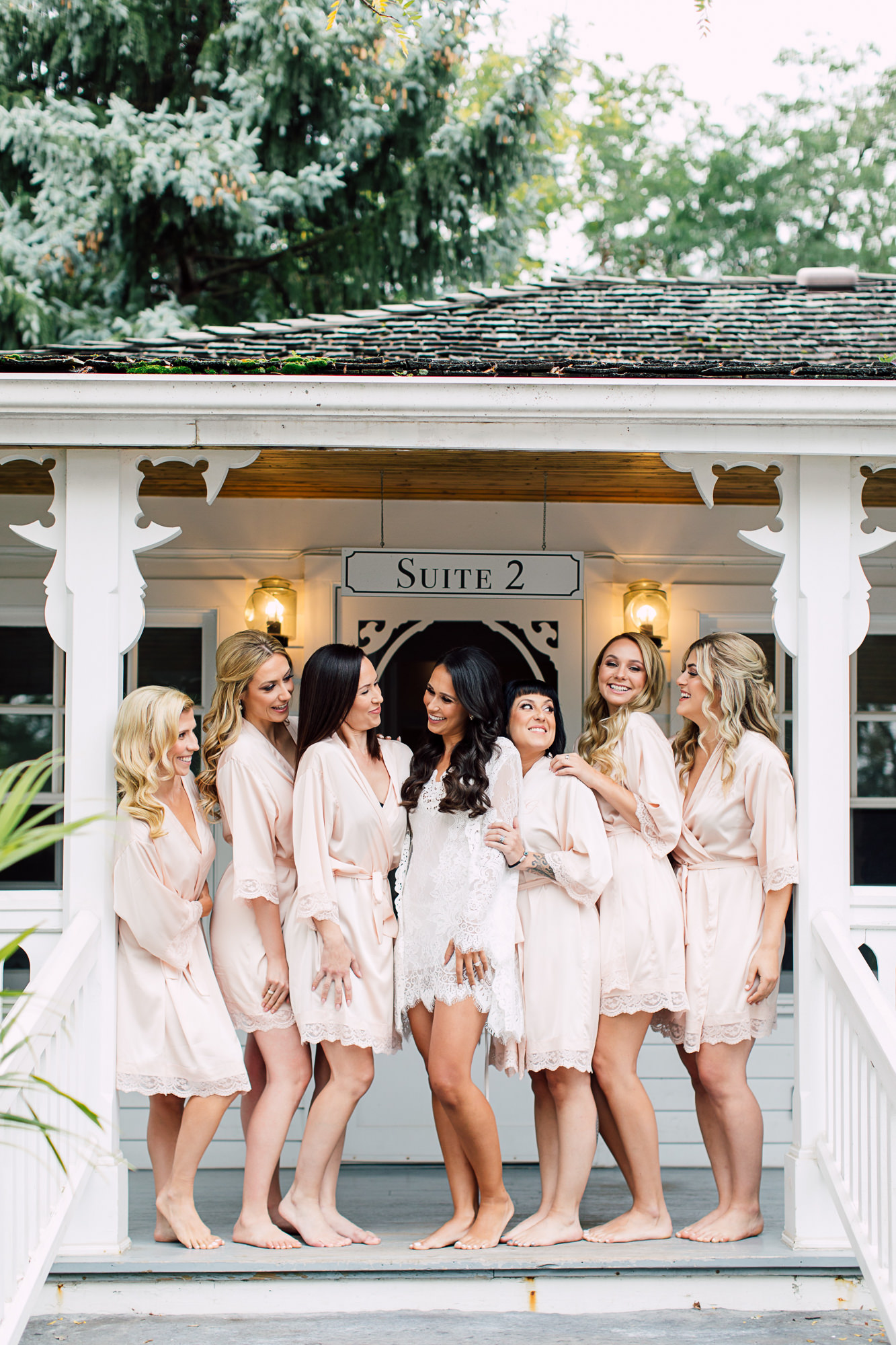 lace dressing robes bridal party