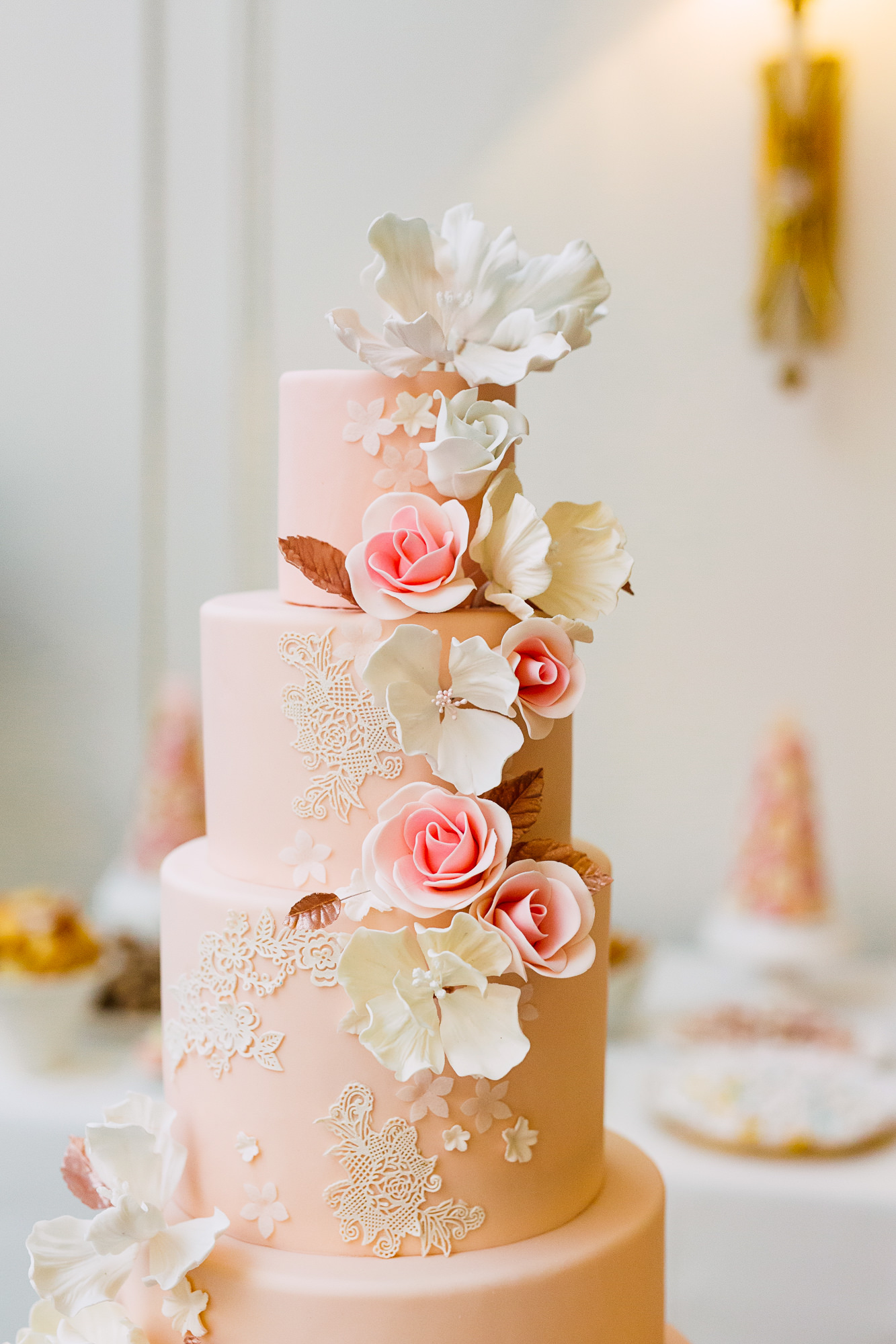 sweet philosophy wedding cake