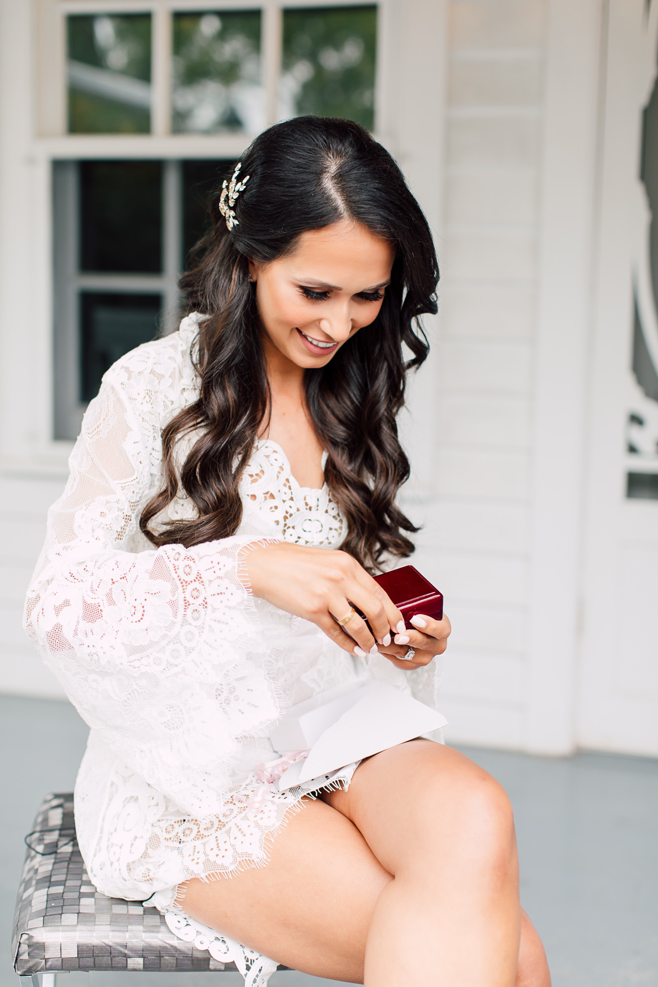 lace robe bride gift