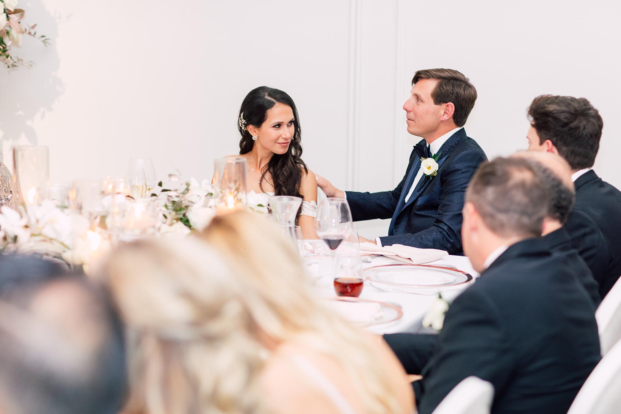 candid bride groom