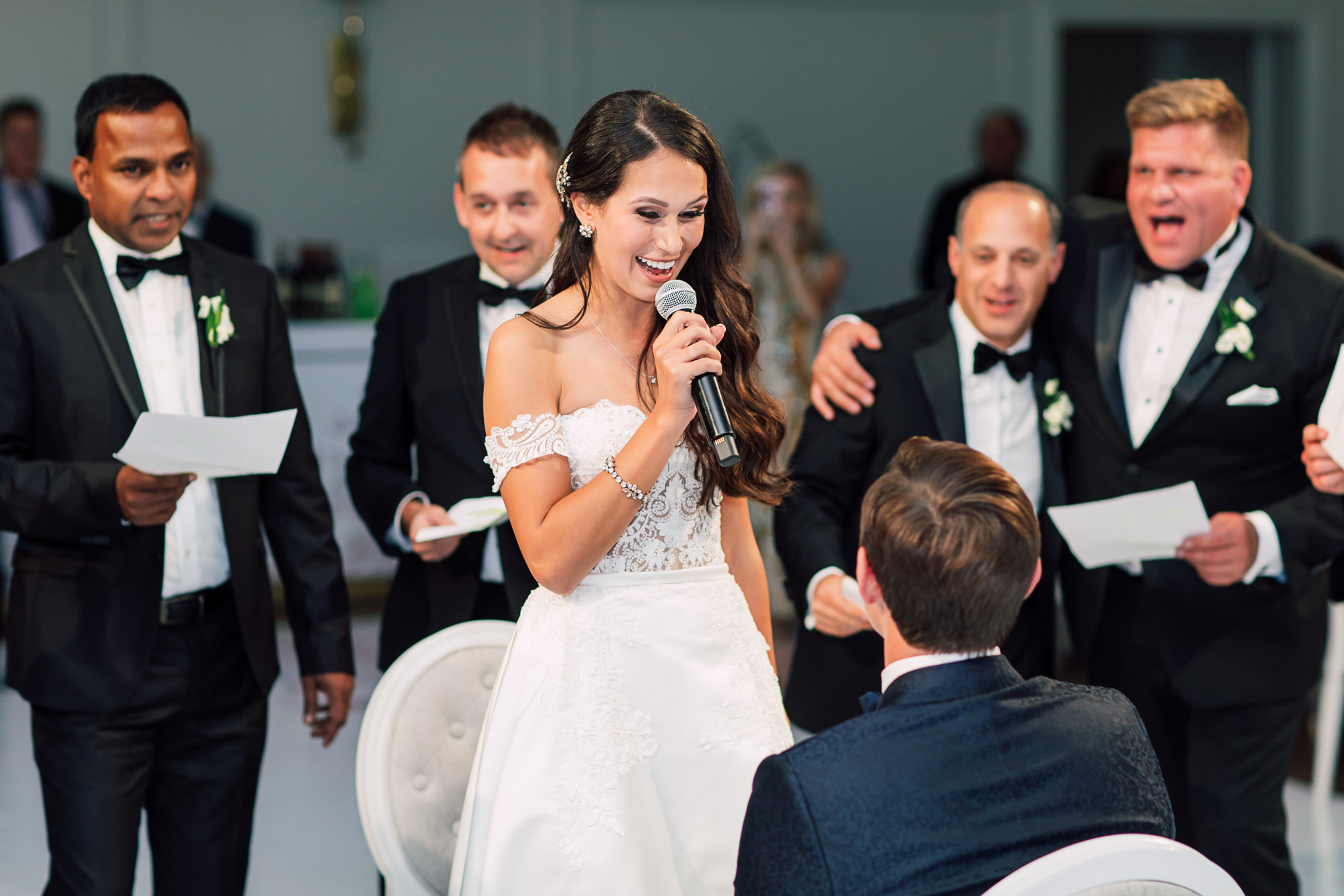 bride singing to groom
