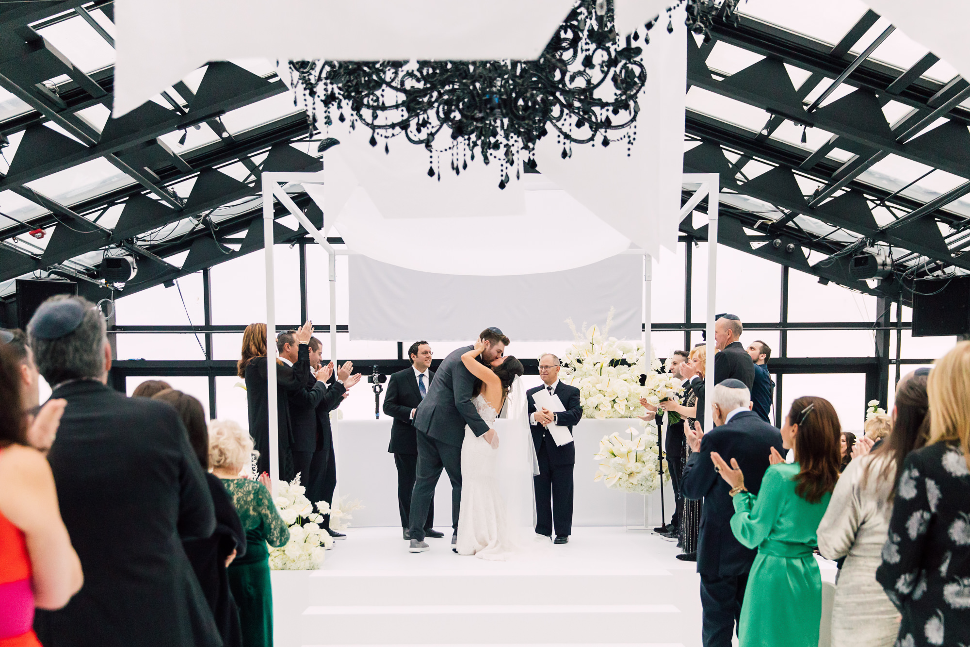 edgy chuppah wedding