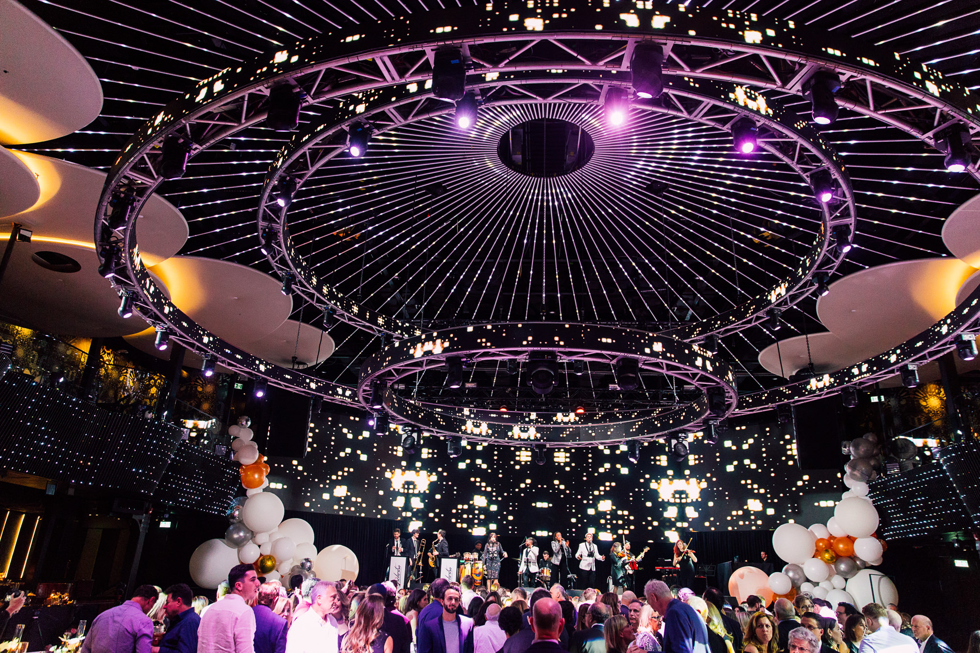 nightclub wedding lights