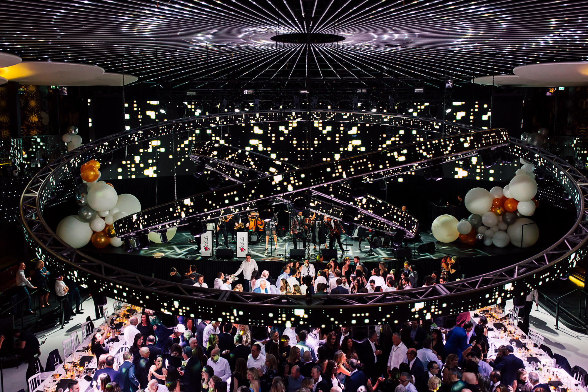 nightclub wedding reception
