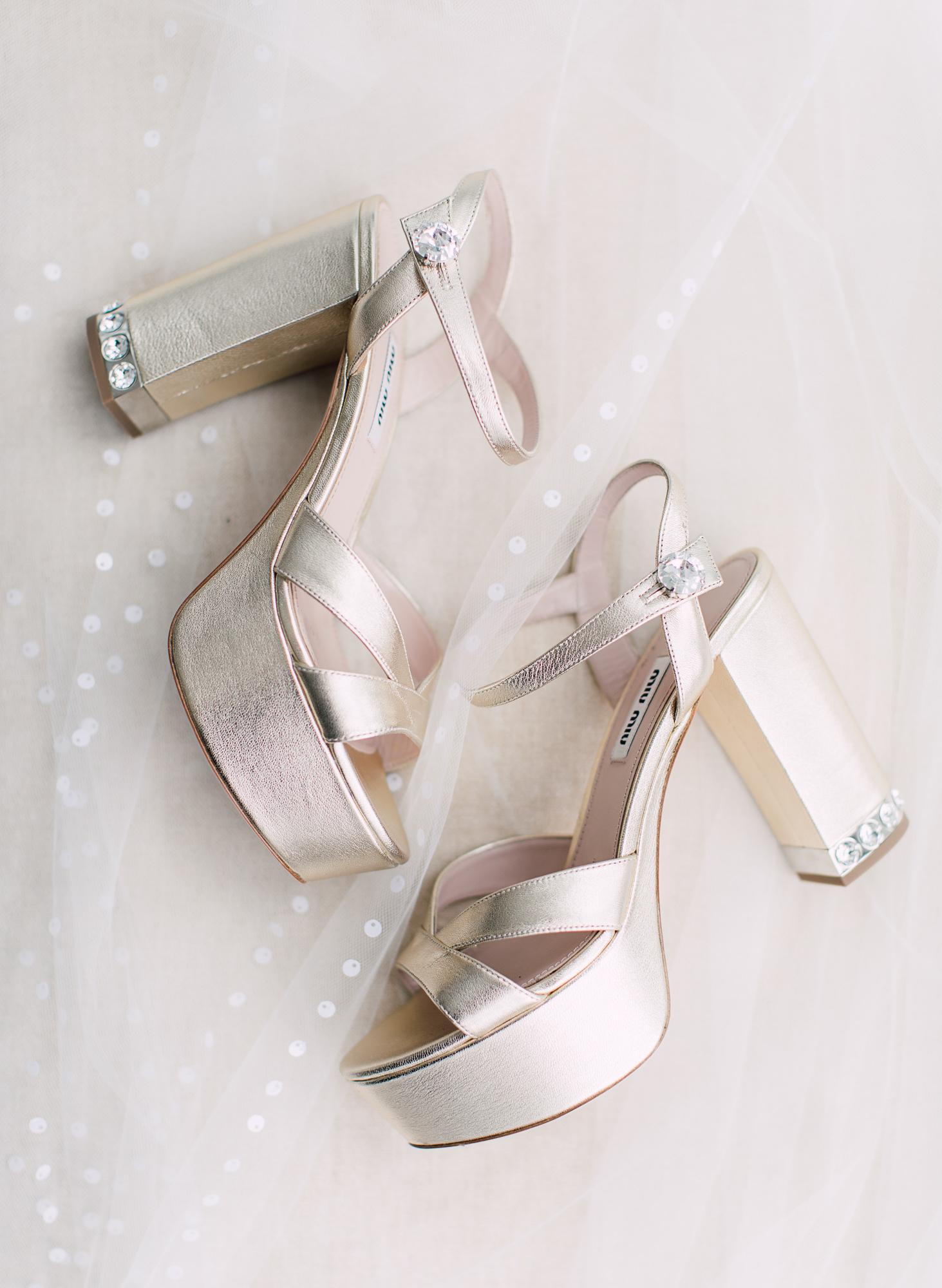 platform bridal heels