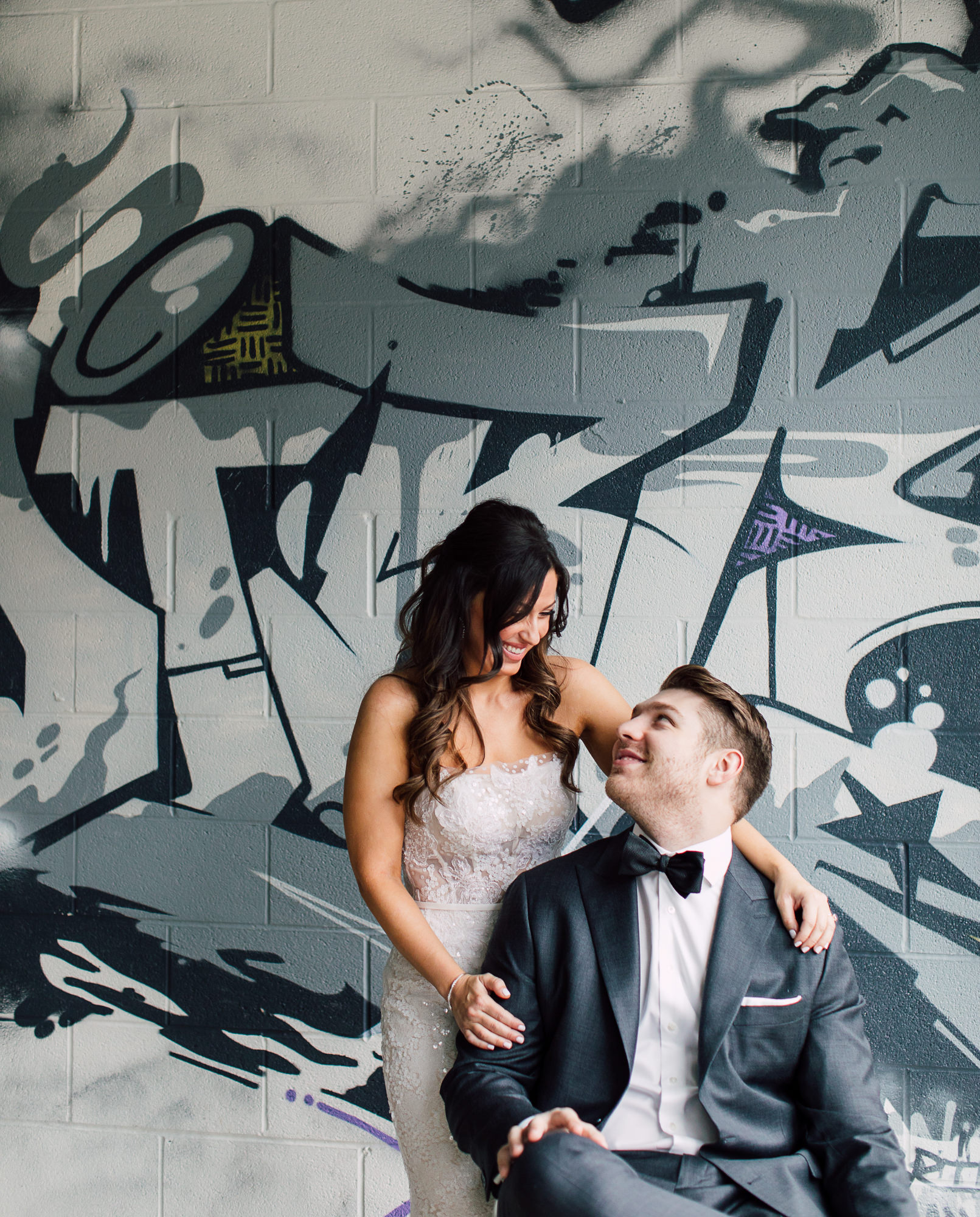 graffiti bridal portraits
