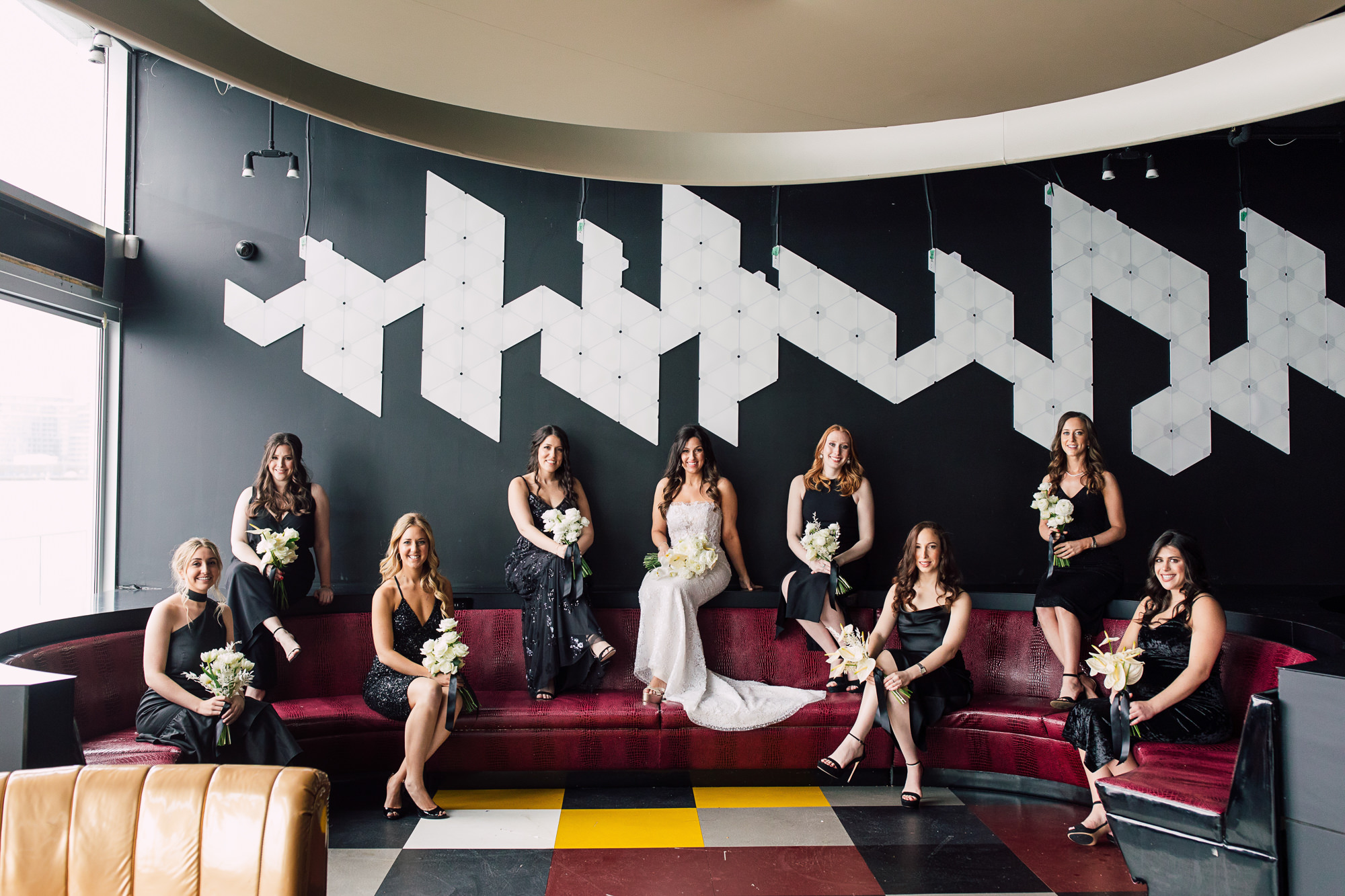 edgy bridal party