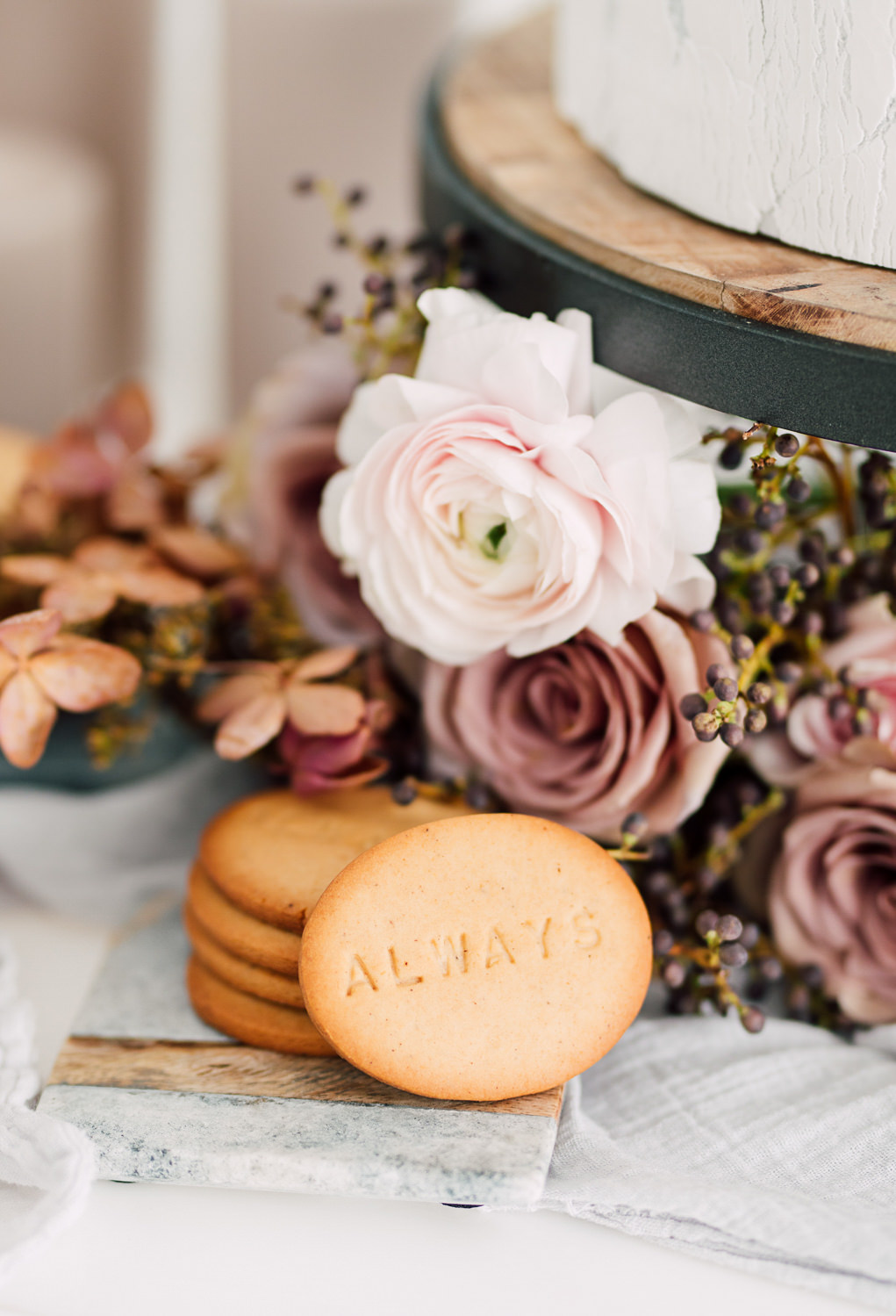 cakelaine wedding cookie