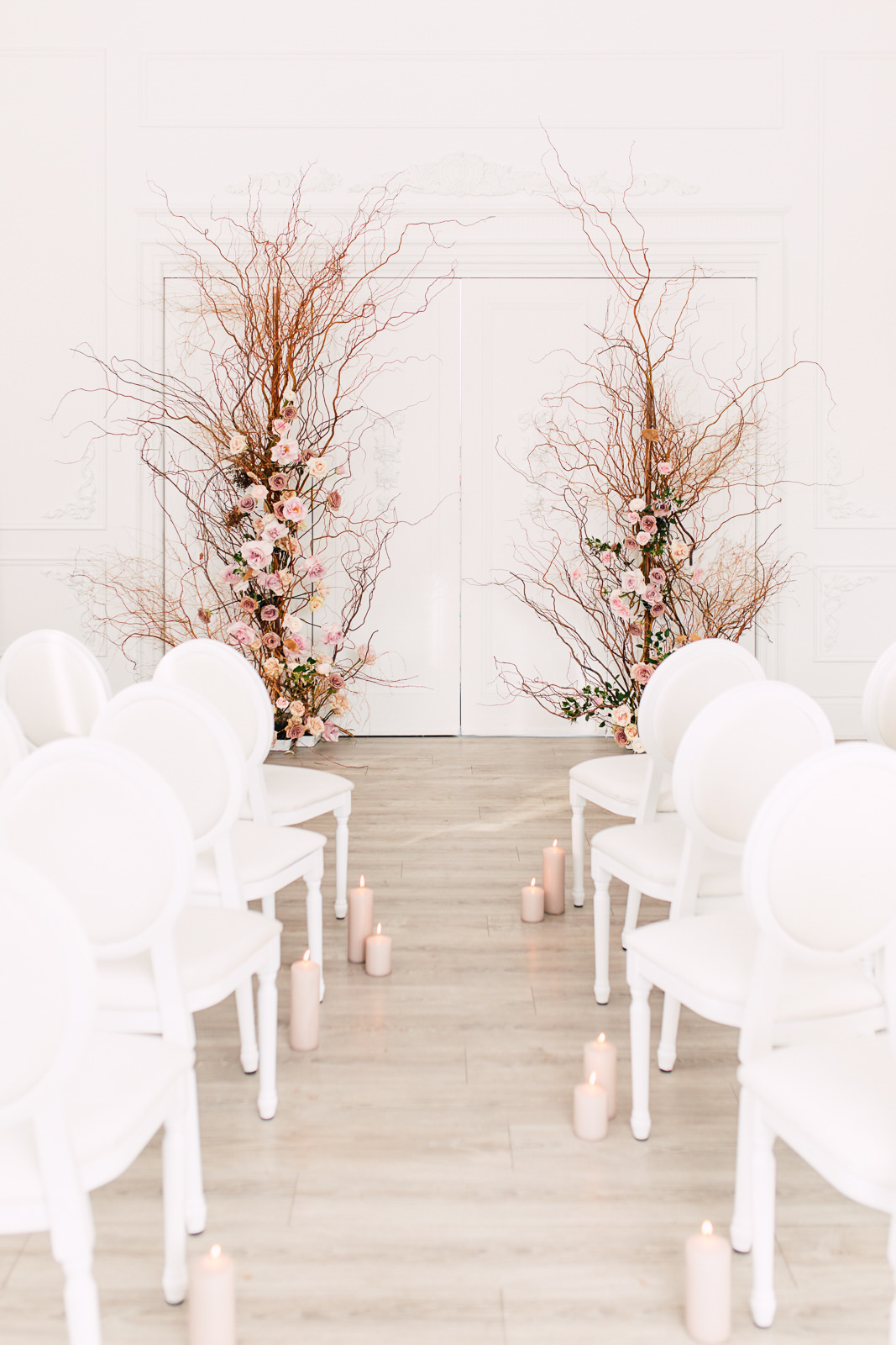 white oak ceremony decor