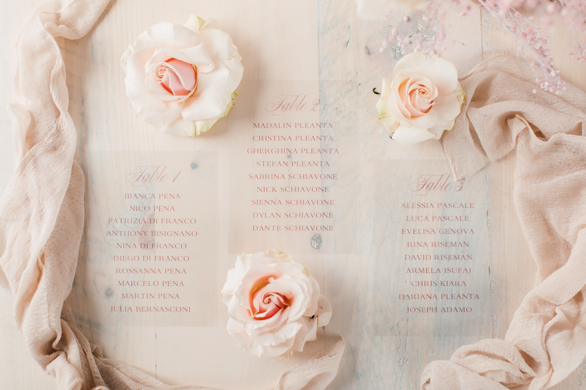 simply sealed wedding menu