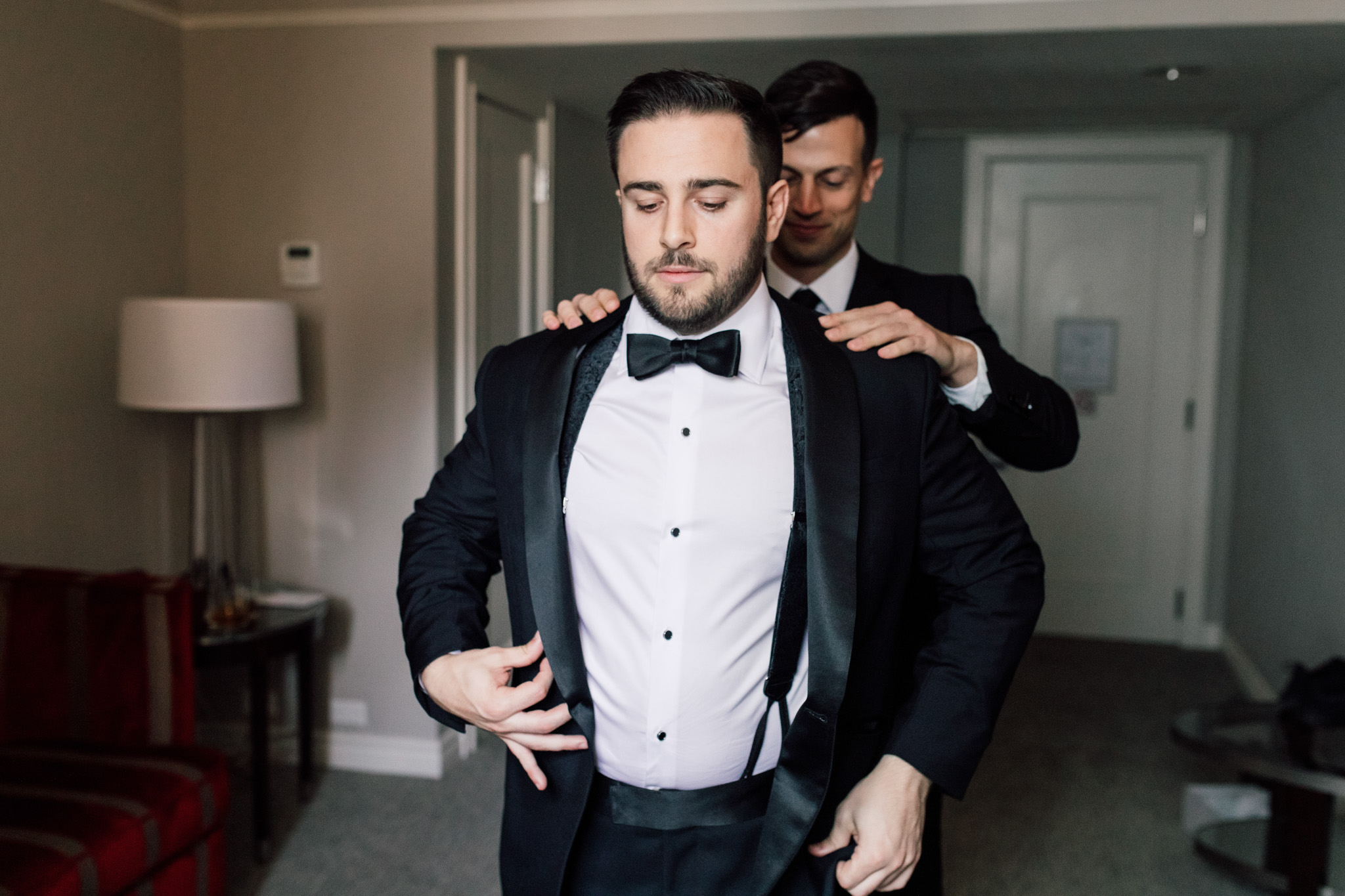 Groom wedding tux