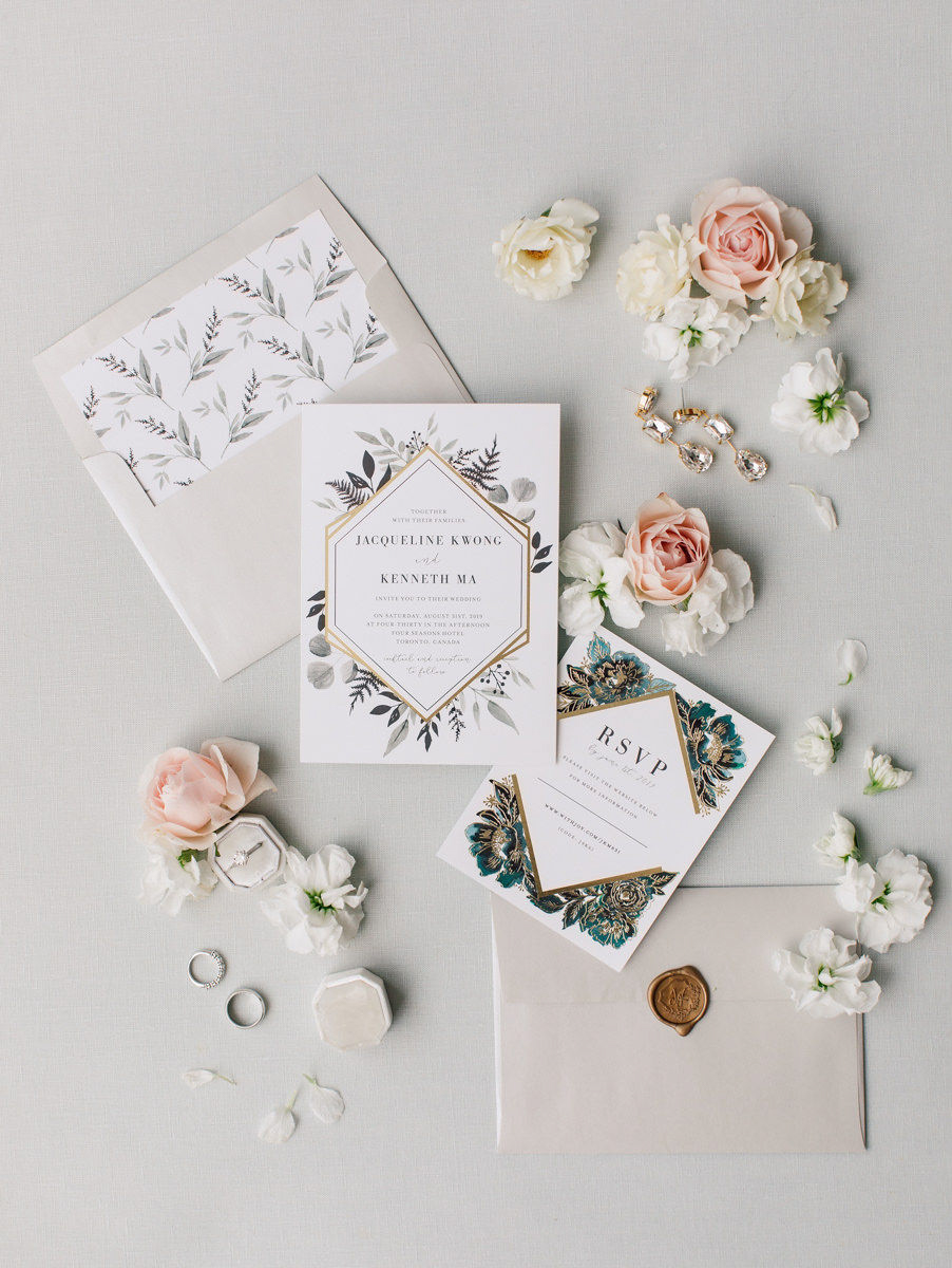 wedding flatlay