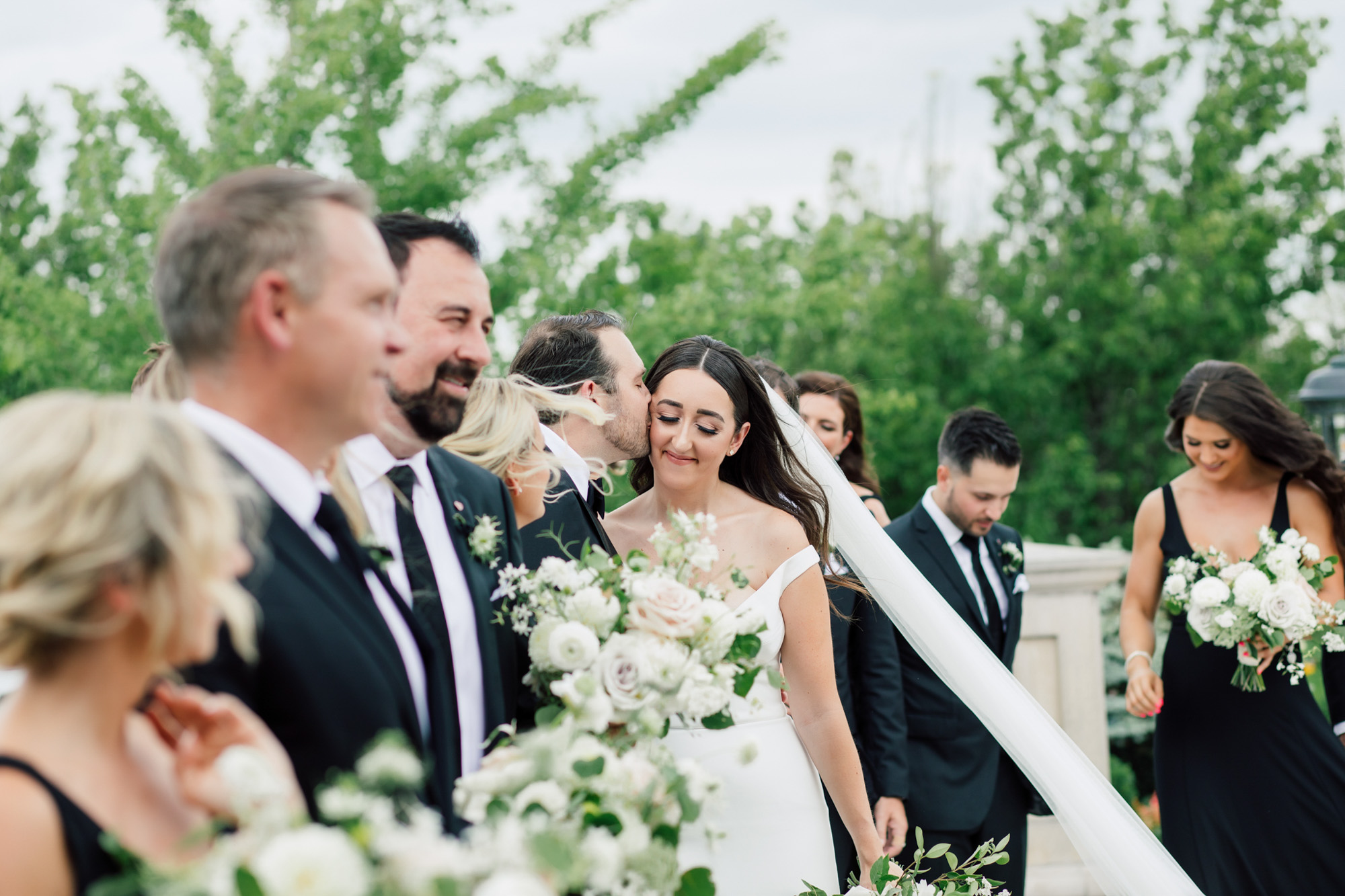 Wedding party photographs