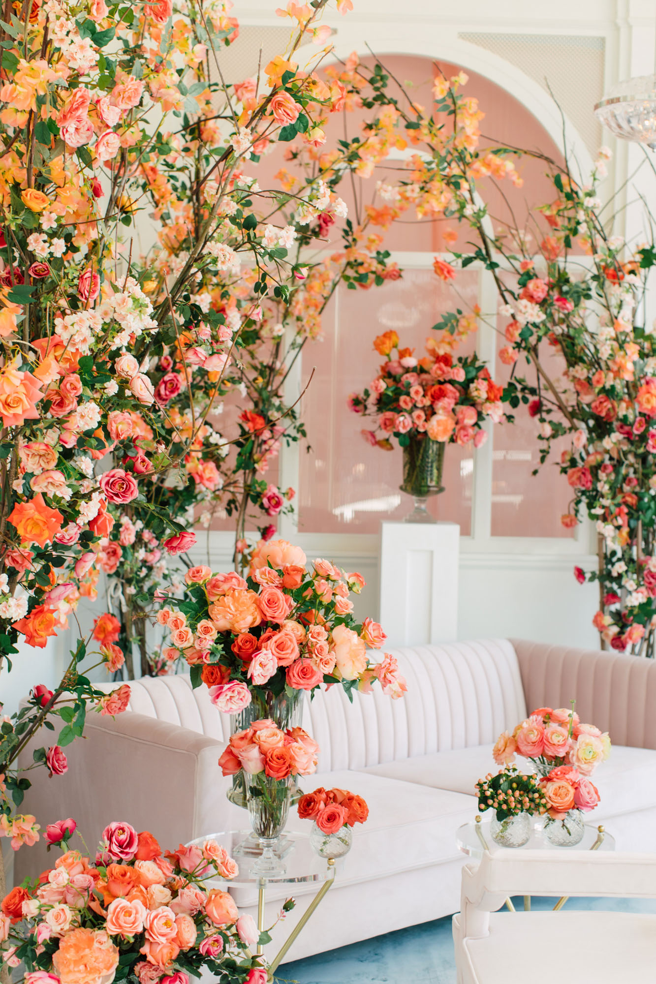 coral wedding design